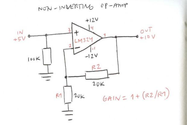 Non-inverting op amp