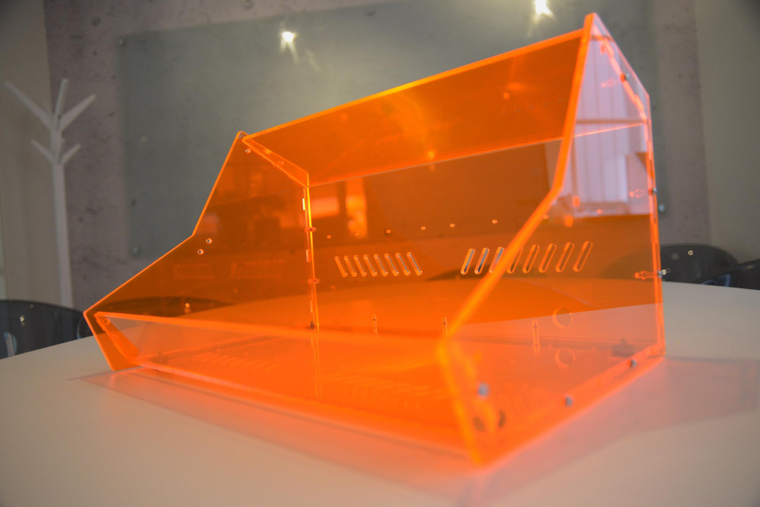 My Laser Cut Transparent Orange Acrylic Sheet Eurorack